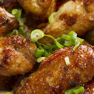 HONEY AND SOY STICKY CHICKEN WINGS.