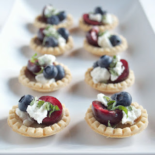 No Bake Red White and Blue Tartlets.