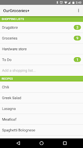 Our Groceries Shopping List screenshot 0