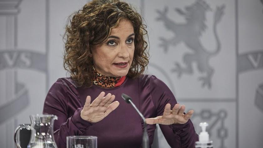 María Jesús Monteo, portavoz del Gobierno, este martes en rueda de prensa.