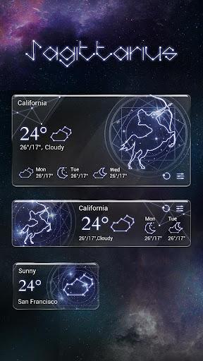 Sagittarius GO Weather Widget Screenshot