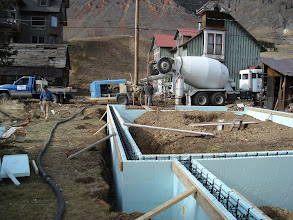 Photo: All formed up for the stem wall pours. Each truck load of concrete was a little over $1000.