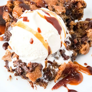 Bourbon Bacon Skillet Cookie