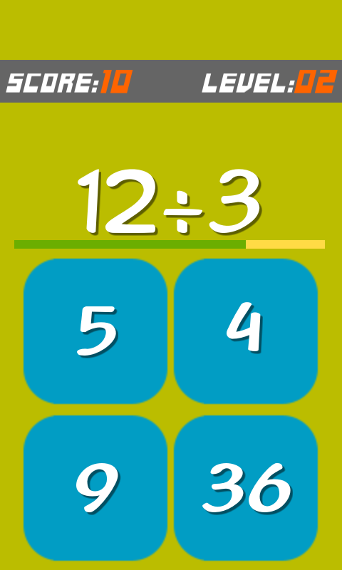 Math Snap Pop Quiz - Free Game- screenshot