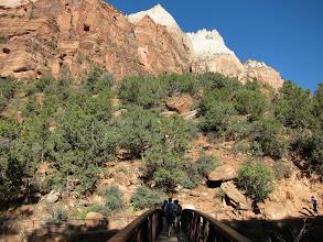 Photo: Heading across the bridge toward the West Rim Trail...