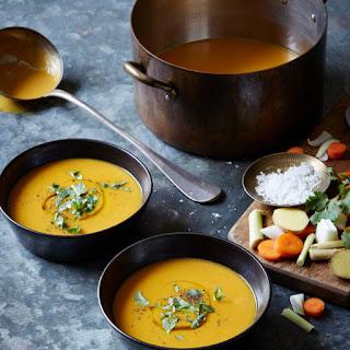 Lemongrass Ginger Carrot Soup.