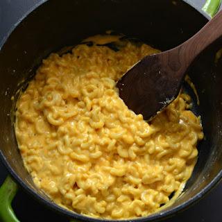 Creamy One Pot Macaroni and Cheese.