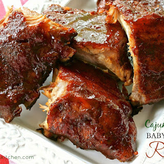 Louisiana Cajun-Style Barbecued Baby Back Ribs (Dry Rub & Easy Mop Sauce).