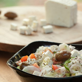 Greek Salad and Feta Cheese in India Recipe