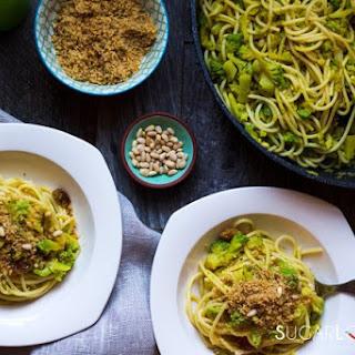 Spaghetti with Broccoli Sicilian-style.