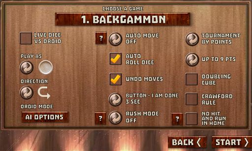 Backgammon Pack : 18 Games 6.060 androidappsheaven.com 16
