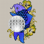 Tattoo Sandbox Color By Number Book Page Pixel Art