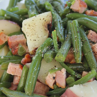 Country Green Beans with Ham and Potatoes.