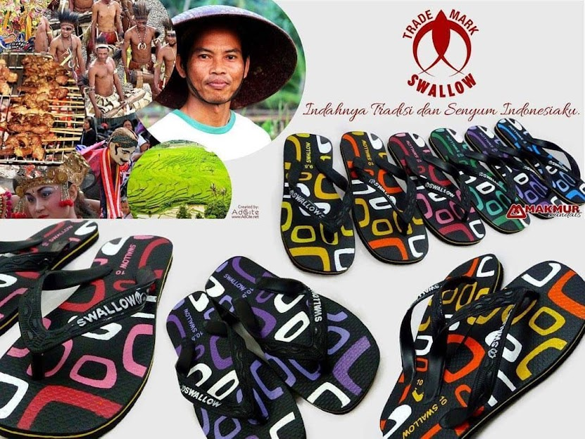 Sandal Jepit Swallow Square Tradisi Indonesia