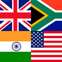 Countries, capitals and flags of the world icon