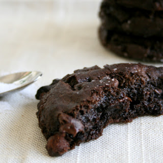 Olive Oil & Sea Salt Brownie Cookies