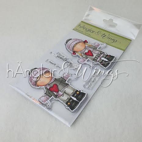 hÄnglar & Wings Clear Stamps - Hjärta på tråd