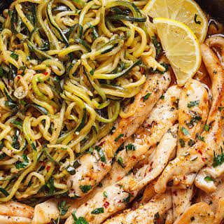 15-Minute Cowboy Butter Chicken with Zucchini Noodles.