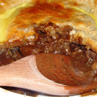 Beef and Oyster Pie with Guinness
