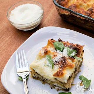 Brussels Sprouts and Mushroom Lasagna