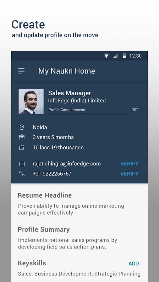 Screenshots of Naukri.com Job Search for iPhone