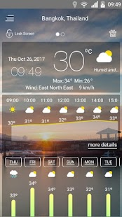 Weather forecast Screenshot