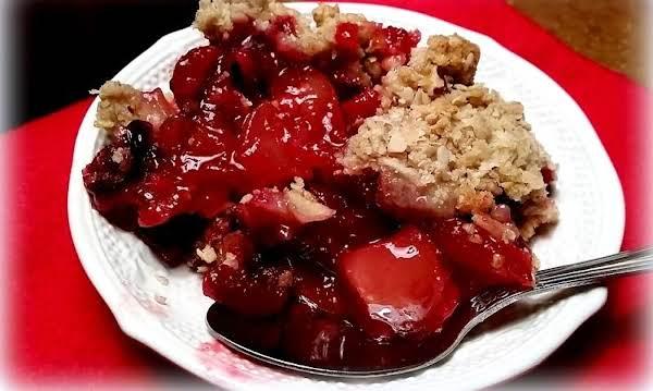 ~ Berry Nice Apple Cranberry Pecan Bake ~
