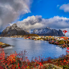 November in Reine... by John Aavitsland - Landscapes Weather ( november, bad weather, north, norway, lofoten )