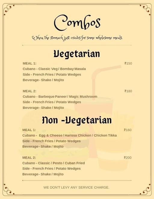 Cubanos menu 3