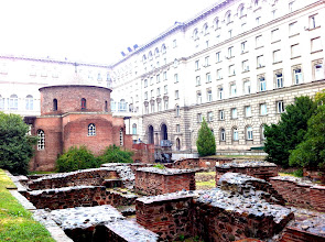 Photo: Rotunda St. George.  Oldest preserved building in the city from 4th century.  Sofia.