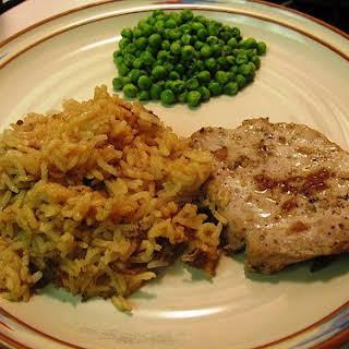 Mom's Pork Chops and Rice Casserole.