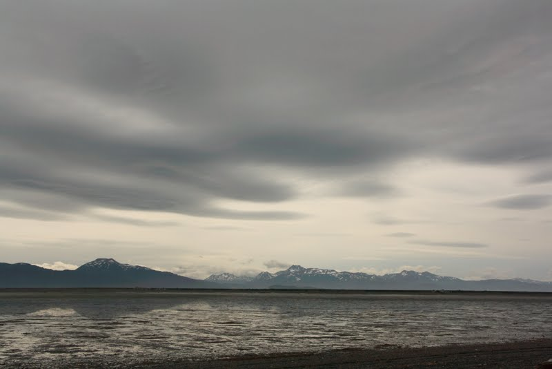 Photo: storm clouds coming. no wind yet so it was pretty warm by the beach