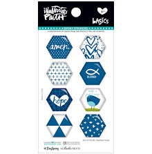 Bella Blvd Illustrated Faith Hexies Epoxy Stickers - Mrs. Blueberry UTGÅENDE