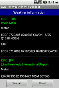 Aviation Weather with Decoder Screenshot