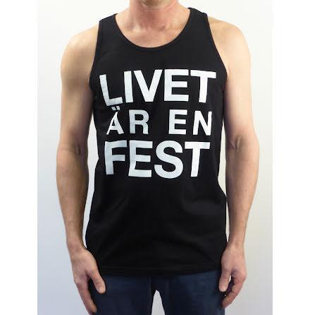 """Svart herrlinne """"Livet är en fest"""""""