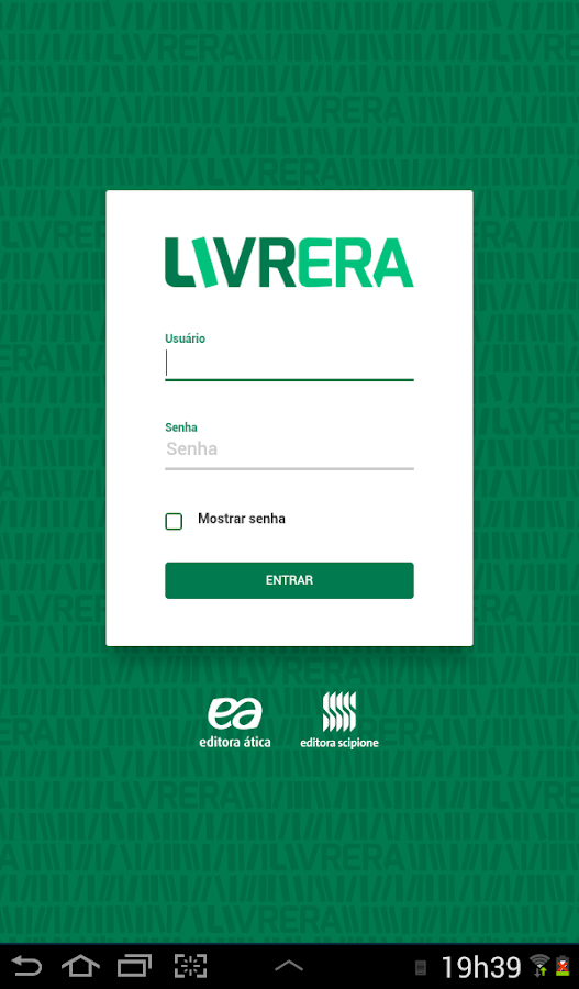 Livrera- screenshot
