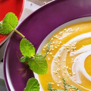 Karottensuppe mit Ingwer und Orangensaft