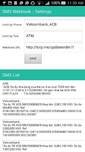 SMS Webhook