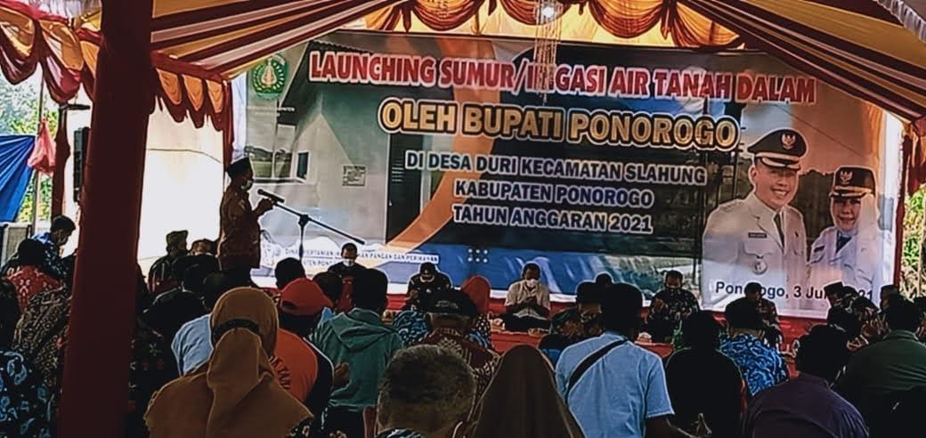 Bupati Ponorogo Launching Sumur ABT 25 Titik di Desa Duri Kecamatan Slahung