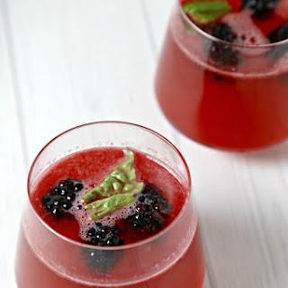 Sparkling Black Widow Cocktail