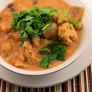 Slow Cooker Cauliflower Indian Stew.