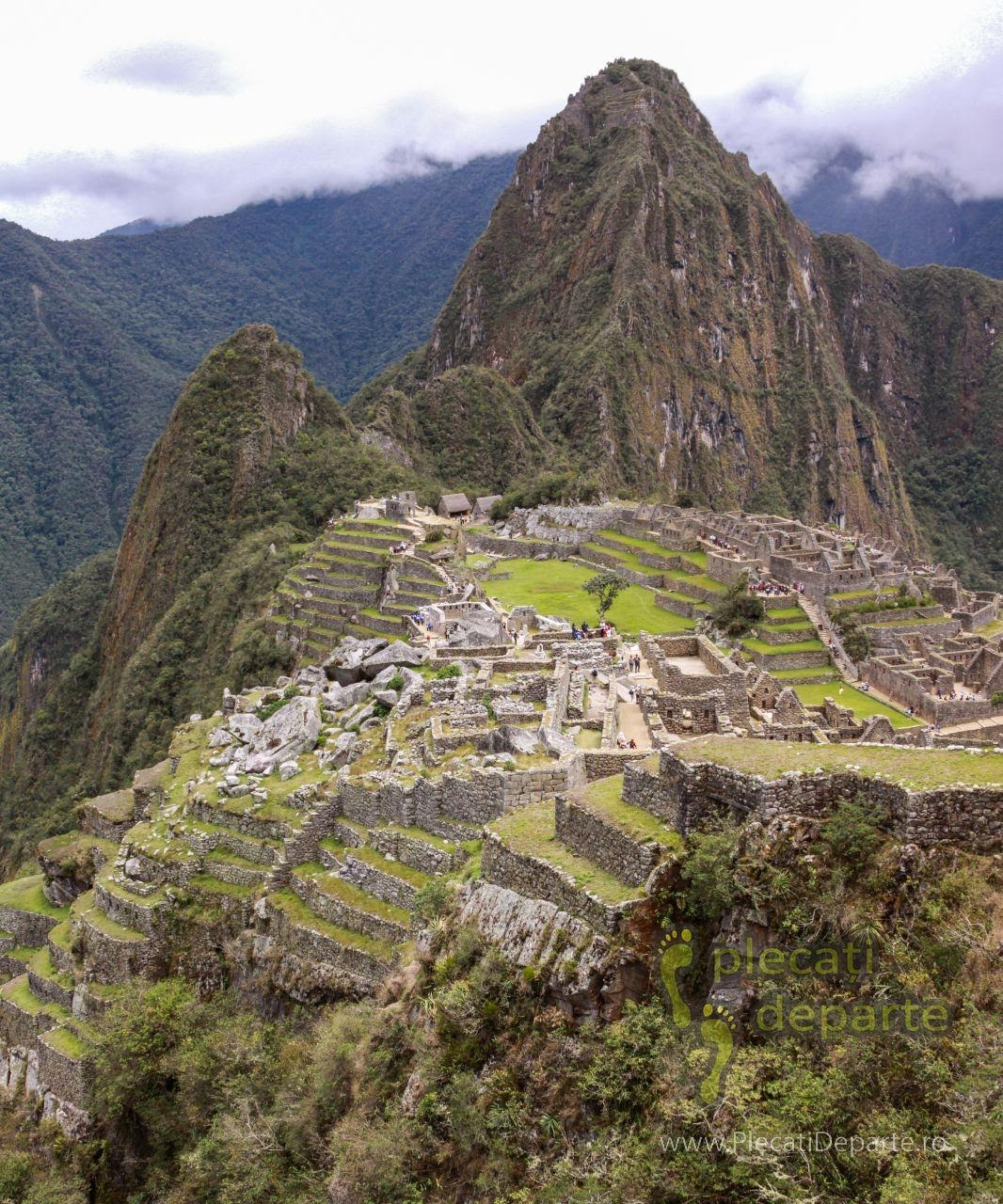 Orasul Pierdut al Incasilor, Machu Picchu, vedere de pe drumul spre Inca Bridge (podul Incas)