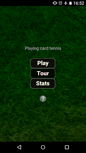 Playing card tennis ktenni