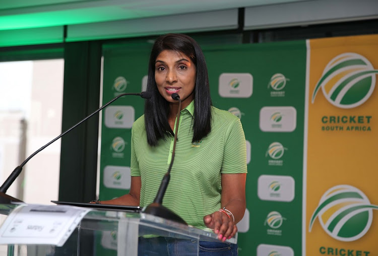 Kugandrie Govender during the Women's Super League launch at Protea Marriot Breakwater on December 13, 2019 in Cape Town, South Africa.