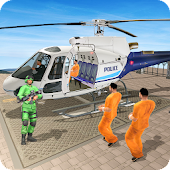 Prisoner Transport Helicopter: Free Bus Games