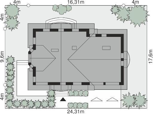 Dom przy Cyprysowej 15 S1 - Sytuacja