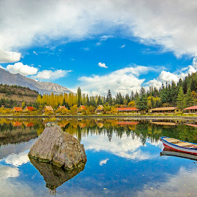 Rainbow of Colors in a Lake.. by Asmar Hussain - Landscapes Mountains & Hills