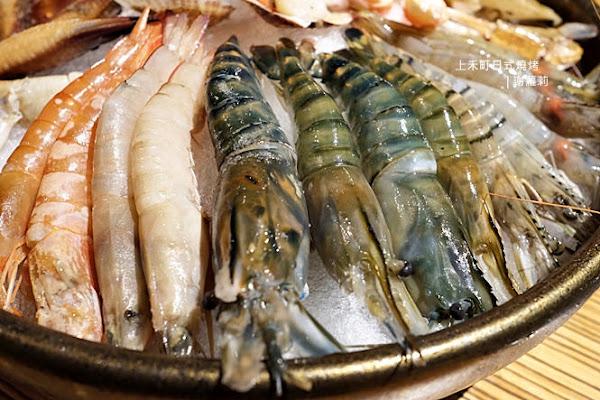 上禾町日式燒烤。頂級生凍帝王蟹吃到飽,天使紅蝦、泰國蝦、東石鮮蚵、深海大魷魚、鮑魚各式生猛海鮮無限暢飲超過癮!(新莊站)