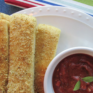 Homemade Pizza House Breadsticks (with Recipe for Pizza Dough & Homemade Pizza Sauce).