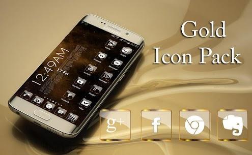 Golden Glass Nova Icon Pack v7.4 [Paid] APK 2